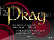 Scripture Art Canvas Prints - Pray without ceasing Print by Greg Long