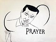 Praying Drawings Originals - Prayer for Haiti by G Cuffia