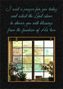 Christian Prayer Prints - Prayer For You Card Print by Carolyn Marshall
