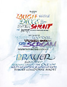 Gospel Posters - Prayer Poster by Judy Dodds