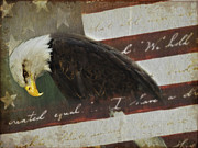 4th July Digital Art Posters - Praying For Our Country Poster by Kathy Jennings