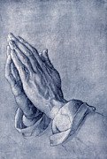 Praying Hands Framed Prints - Praying Hands, Art By Durer Framed Print by Sheila Terry