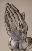 Praying Drawings Originals - Praying Hands by Ruben Rosado