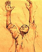 Prayer Drawings - Praying Man by Ruth Mabee