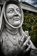 Praying Hands Framed Prints - Praying Nun Statue Framed Print by Jim Albritton