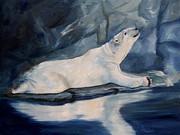 Brenda Thour - Praying Polar Bear Original Oil Painting