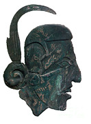 Indian Warrior Sculpture Prints - Pre-columbian Copper Ornament Print by Photo Researchers