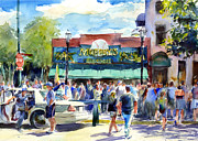 Chicago Cubs Paintings - Pre Game Warm Up Murphys Bleachers by Gordon France