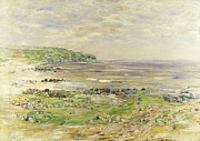 Windswept Prints - Preaching of St. Columba Iona Inner Hebridies Print by William McTaggart