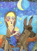 Donkey Mixed Media - Precious Cargo by Robert Wolverton Jr