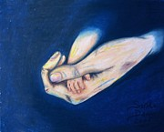 Hands Pastels Prints - Precious Gift Print by Sandi Dawn McWilliams