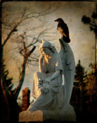Crow Image Prints - Precious Light Print by Gothicolors And Crows