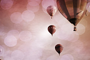Celebration Art Print Photo Prints - Precious Pink Balloons Print by Andrea Hazel Ihlefeld