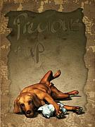 Puppy Digital Art - Precious Pup Customised Message by Nik Helbig