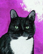 Pet Paintings - Precious the Kitty by Ania M Milo