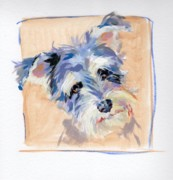 Schnauzer Framed Prints - Precocious Framed Print by Kimberly Santini