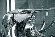 Iron  Sculpture Metal Prints - Predator Metal Print by Yurix Sardinelly