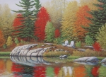 Cottage Country Paintings - Preferred Seating by Jake Vandenbrink