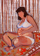 Nine Eleven Prints - Pregnant and Proud Print by Elzbieta Zemaitis