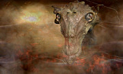 Prehistoric Digital Art - Prehistoric creature by Jan Willem Van Swigchem