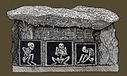 Palaeolithic Framed Prints - Prehistoric Tomb, Sweden Framed Print by Sheila Terry