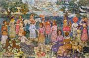 1916 Framed Prints - Prendergast: Beach, 1916 Framed Print by Granger