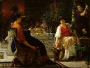 Decorating Paintings - Preparations for the Festivities by Sir Lawrence Alma-Tadema