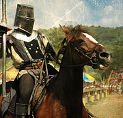Knight In Shining Armor Posters - Prepare the Joust Poster by Paul Ward