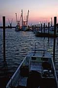 Chincoteague Island Prints - Preparing the Boats Chincoteague Island Virginia Print by Brian M Lumley