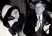 Clapping Posters - Pres. John F. Kennedy And Mrs. Kennedy Poster by Everett