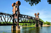 Prescott Photo Framed Prints - Prescott Lift Bridge Framed Print by Kristin Elmquist