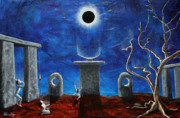 Dead People Paintings - Presence by Pauline Ross