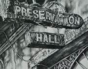 Hall Drawings Framed Prints - Preservation Hall Framed Print by Michael Lee Summers