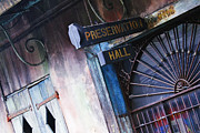 Entrance Door Framed Prints - Preservation Hall Sign Framed Print by Jeremy Woodhouse