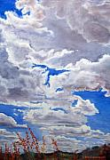Gilbert Paintings - Preserve Sky by CJ  Rider