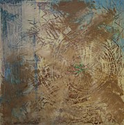 Struggling Painting Metal Prints - Preserve the Blue Gold Metal Print by Jan Swaren