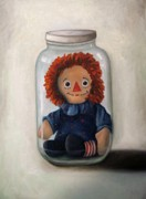 Blue Dress Posters - Preserving Childhood 2 Poster by Leah Saulnier The Painting Maniac