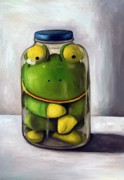 Mason Jar Prints - Preserving Childhood Print by Leah Saulnier The Painting Maniac