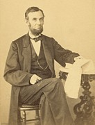 1860s Prints - President Abraham Lincoln 1809-1865 Print by Everett