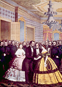 Mary Todd Lincoln Prints - President Abraham Lincoln And First Print by Everett
