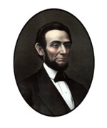 Lincoln Paintings - President Abraham Lincoln  by War Is Hell Store