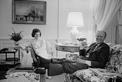 Gerald Ford Posters - President And Betty Ford In The Living Poster by Everett