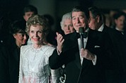 Inaugurations Framed Prints - President And Mrs. Reagan Attend Framed Print by Everett