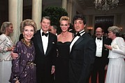 Stallone Art - President And Nancy Reagan Posing by Everett
