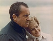 Clemente Photo Prints - President And Pat Nixon In An Print by Everett