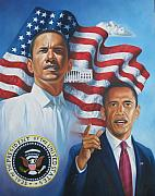 Portraits Originals - President Barack Obama by Arnold Hurley