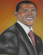 Obama Pastels - President Barack Obama by Bernell  Heard