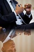 President Barack Obama Gestures Print by Everett