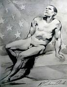President Barack Obama Nude Study Print by Karine Percheron-Daniels