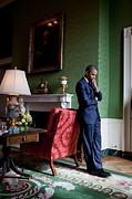 President Barack Obama Waits Print by Everett